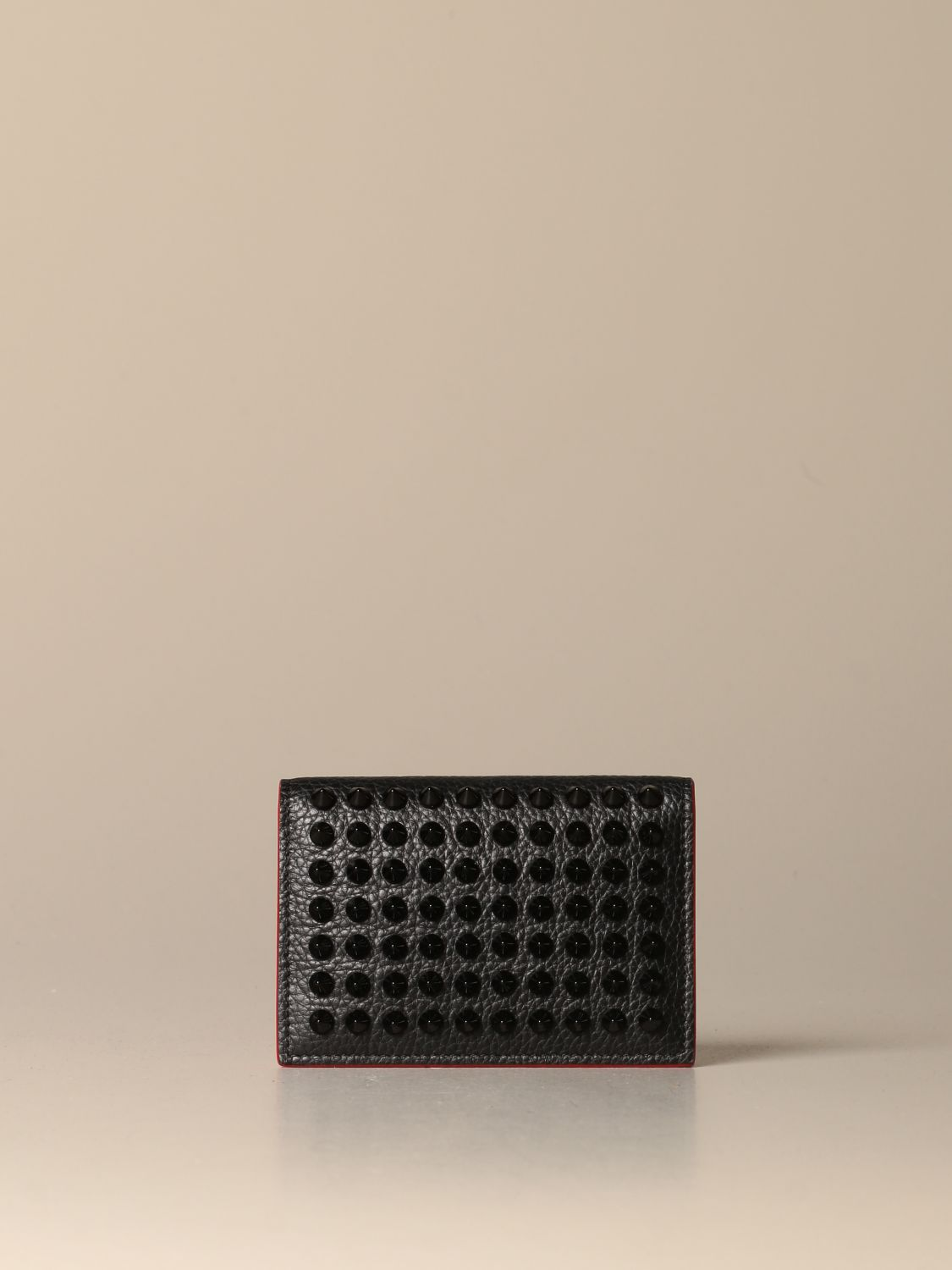Wallet Christian Louboutin: Christian Louboutin Sfinos wallet with studs black 1