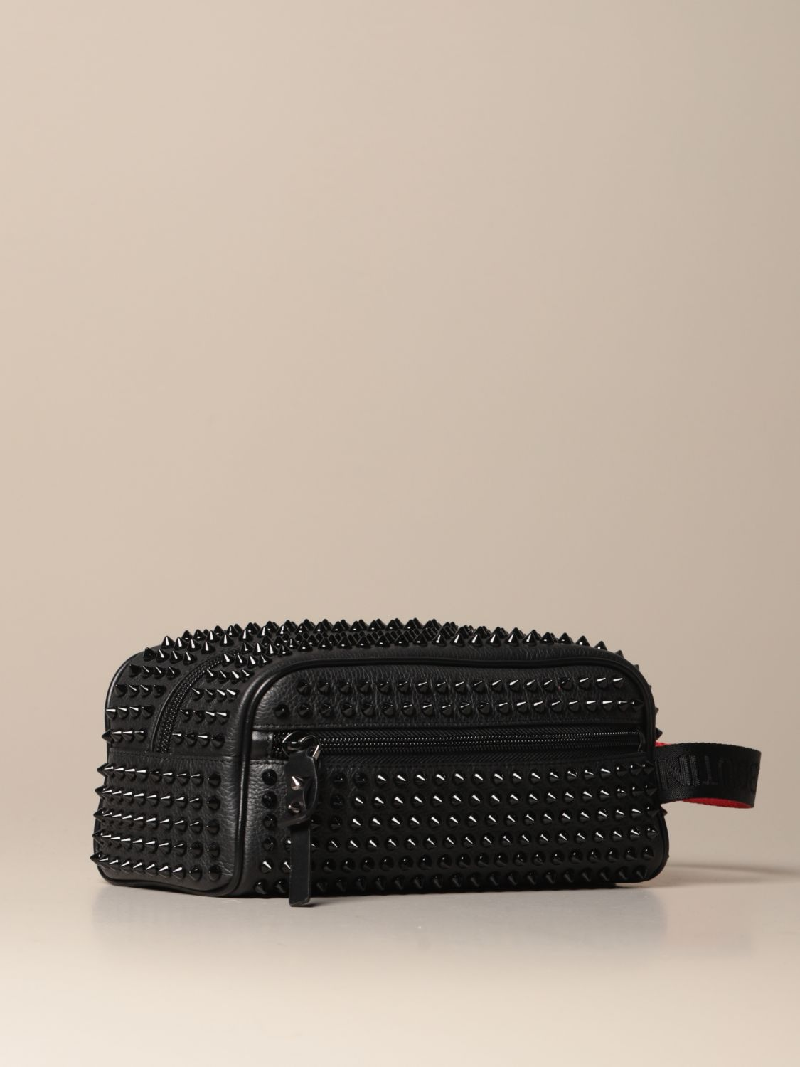 Bags Christian Louboutin: Blaster Christian Louboutin beauty case in leather with studs black 2