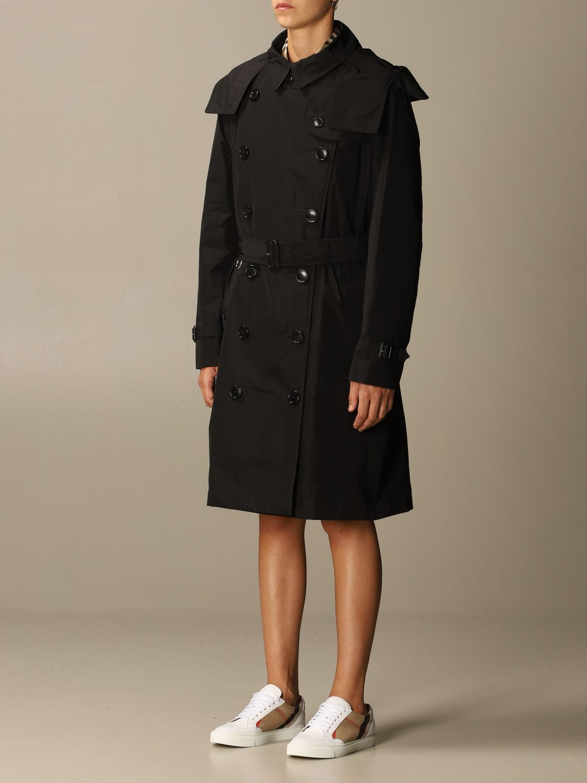 Coat Burberry: Coat women Burberry black 3