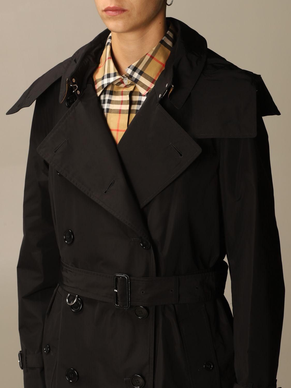 Coat Burberry: Coat women Burberry black 4