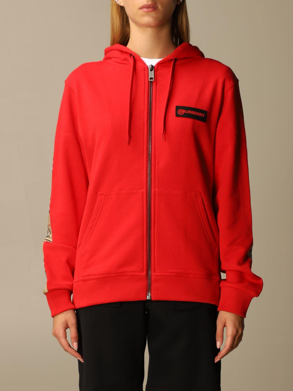 Sweatshirt Burberry: Sweatshirt women Burberry red 1