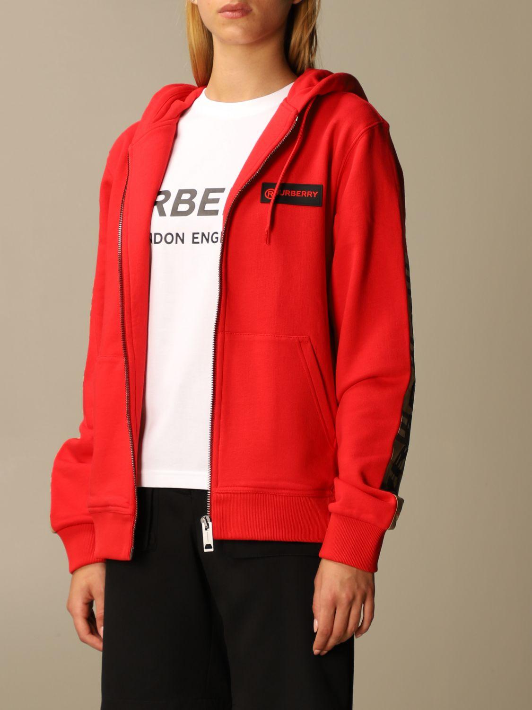 Sweatshirt Burberry: Sweatshirt women Burberry red 4