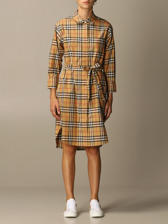 Платье Burberry: Платье Женское Burberry бежевый 1