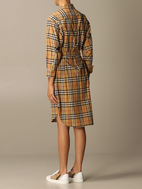 Платье Burberry: Платье Женское Burberry бежевый 3