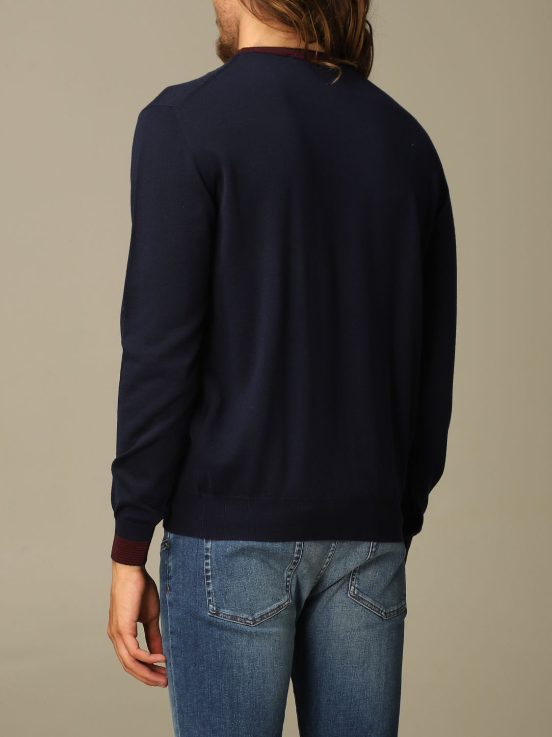 Sweater Etro: Etro wool sweater with embroidered Pegasus navy 2