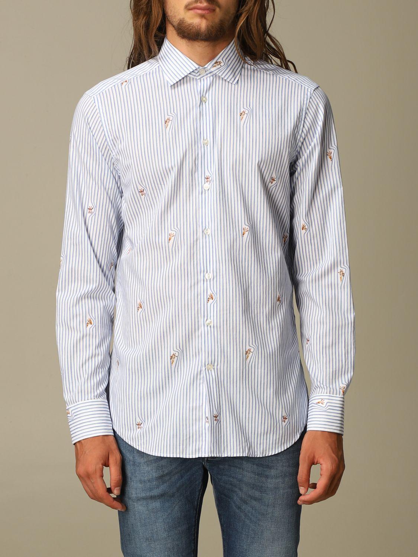Shirt Etro: Etro cotton shirt with giraffes gnawed blue 1