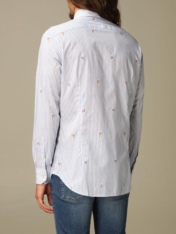 Shirt Etro: Etro cotton shirt with giraffes gnawed blue 2