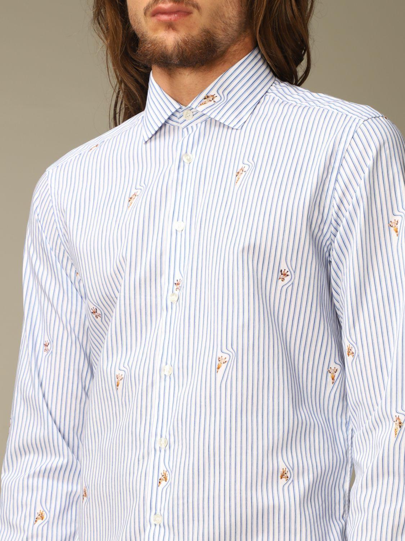 Shirt Etro: Etro cotton shirt with giraffes gnawed blue 3