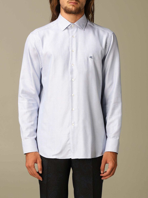 Shirt Etro: Shirt men Etro gnawed blue 1