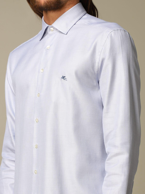 Shirt Etro: Shirt men Etro gnawed blue 3