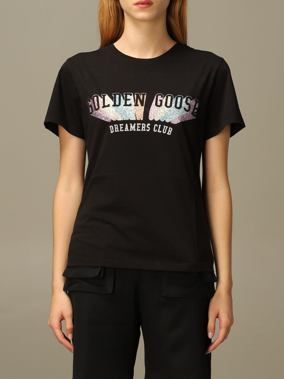 T-Shirt Golden Goose: T-shirt damen Golden Goose schwarz 1