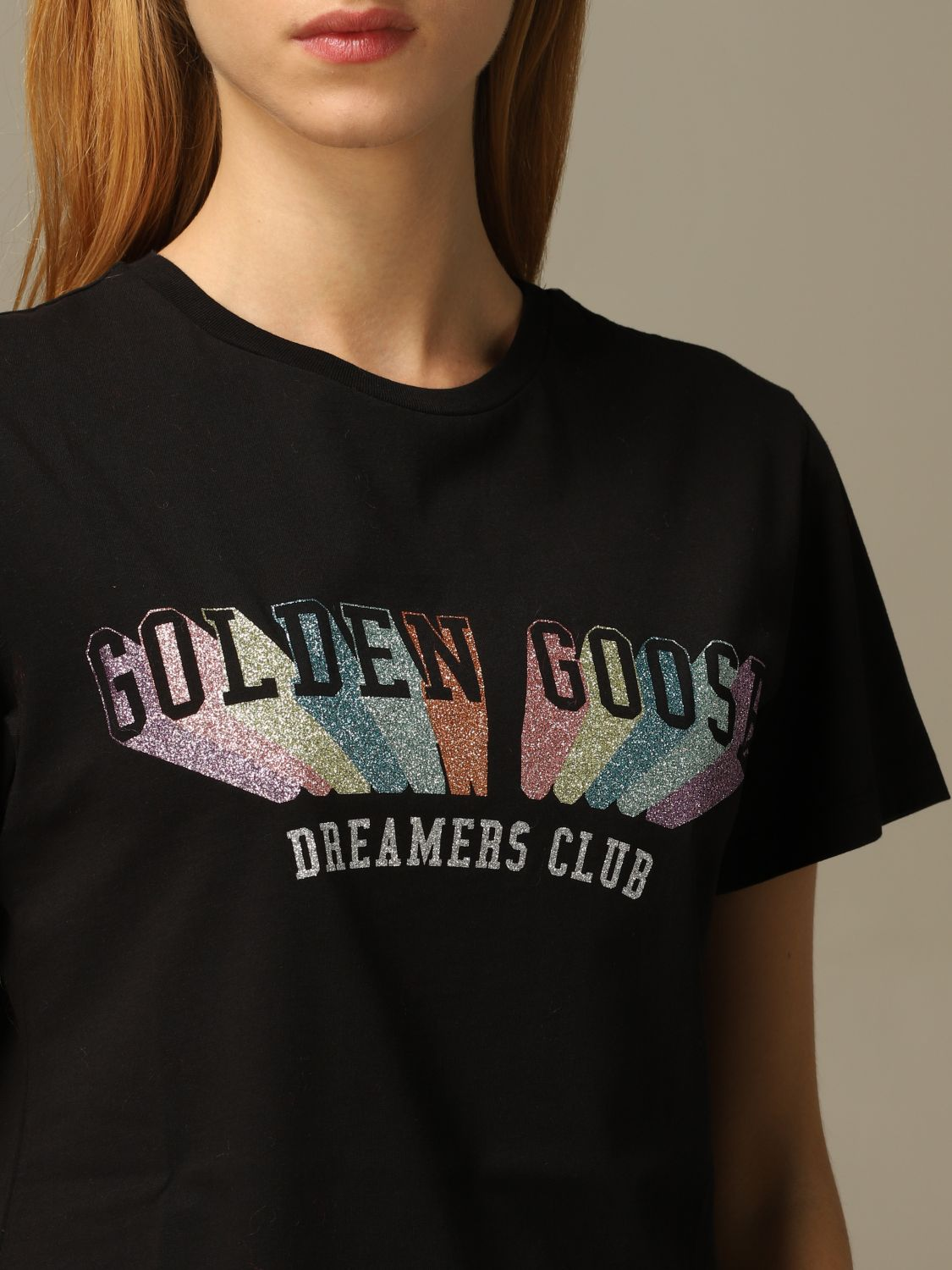 T-Shirt Golden Goose: T-shirt damen Golden Goose schwarz 5