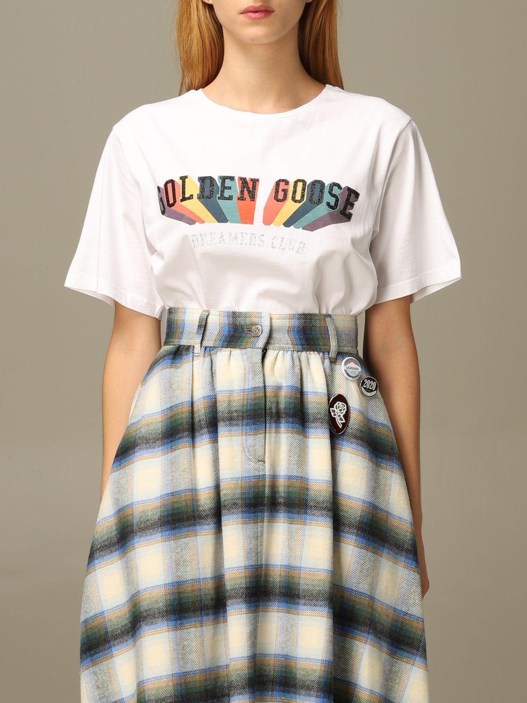 T-Shirt Golden Goose: T-shirt damen Golden Goose weiß 1