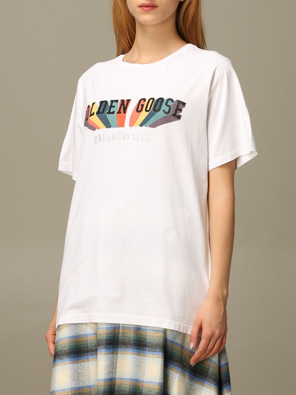T-Shirt Golden Goose: T-shirt damen Golden Goose weiß 4