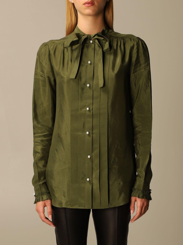Camicia Golden Goose: Camicia Golden Goose alla coreana con rouches militare 1