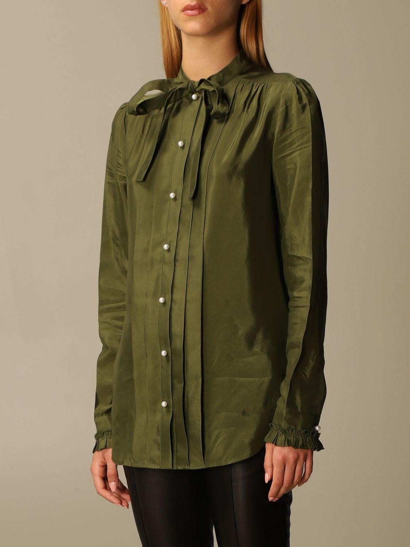 Camicia Golden Goose: Camicia Golden Goose alla coreana con rouches militare 4