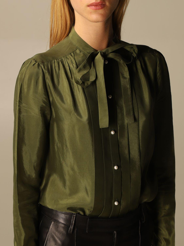 Camicia Golden Goose: Camicia Golden Goose alla coreana con rouches militare 5