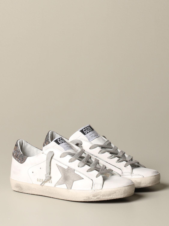 Sneakers Golden Goose: Sneakers Superstar Golden Goose in pelle bianco 2