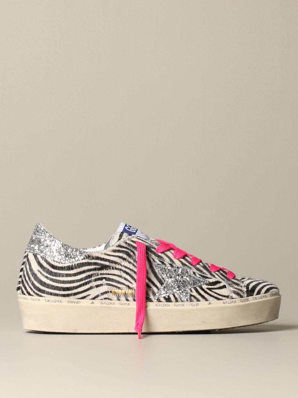Sneakers Golden Goose: Sneakers Hi Star Golden Goose zebrata bianco 1