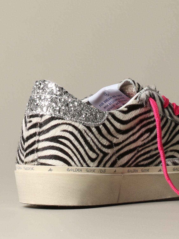 Sneakers Golden Goose: Sneakers Hi Star Golden Goose zebrata bianco 3