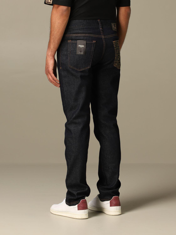 Jeans Fendi: Jeans hombre Fendi azul oscuro 3