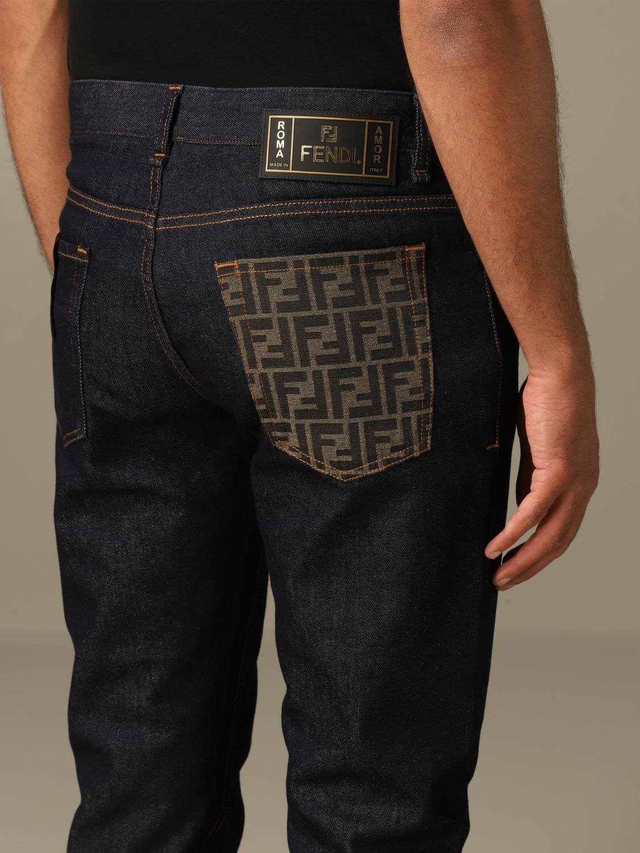 Jeans Fendi: Jeans hombre Fendi azul oscuro 5