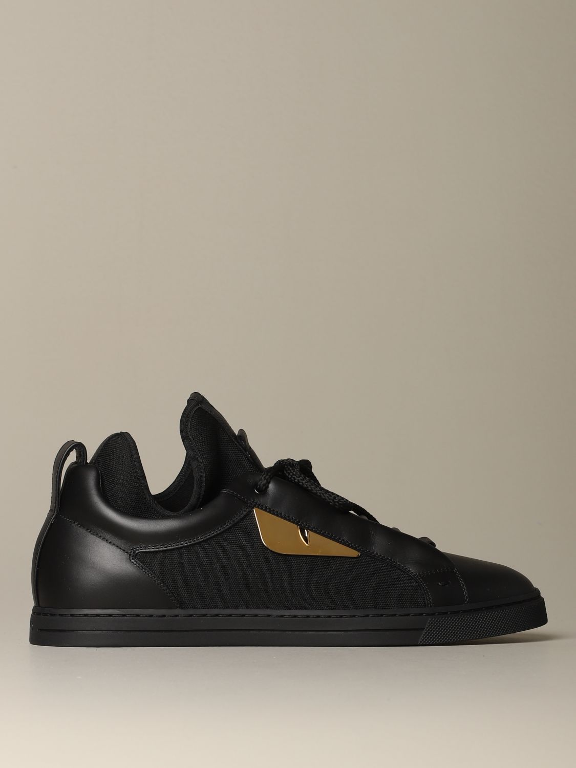 Sneakers Fendi: Fendi sneakers in leather and fabric with Bag Bugs eyes black 1