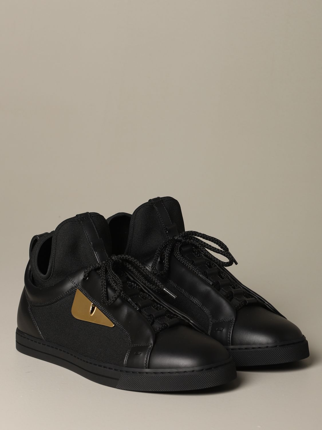 Sneakers Fendi: Fendi sneakers in leather and fabric with Bag Bugs eyes black 2