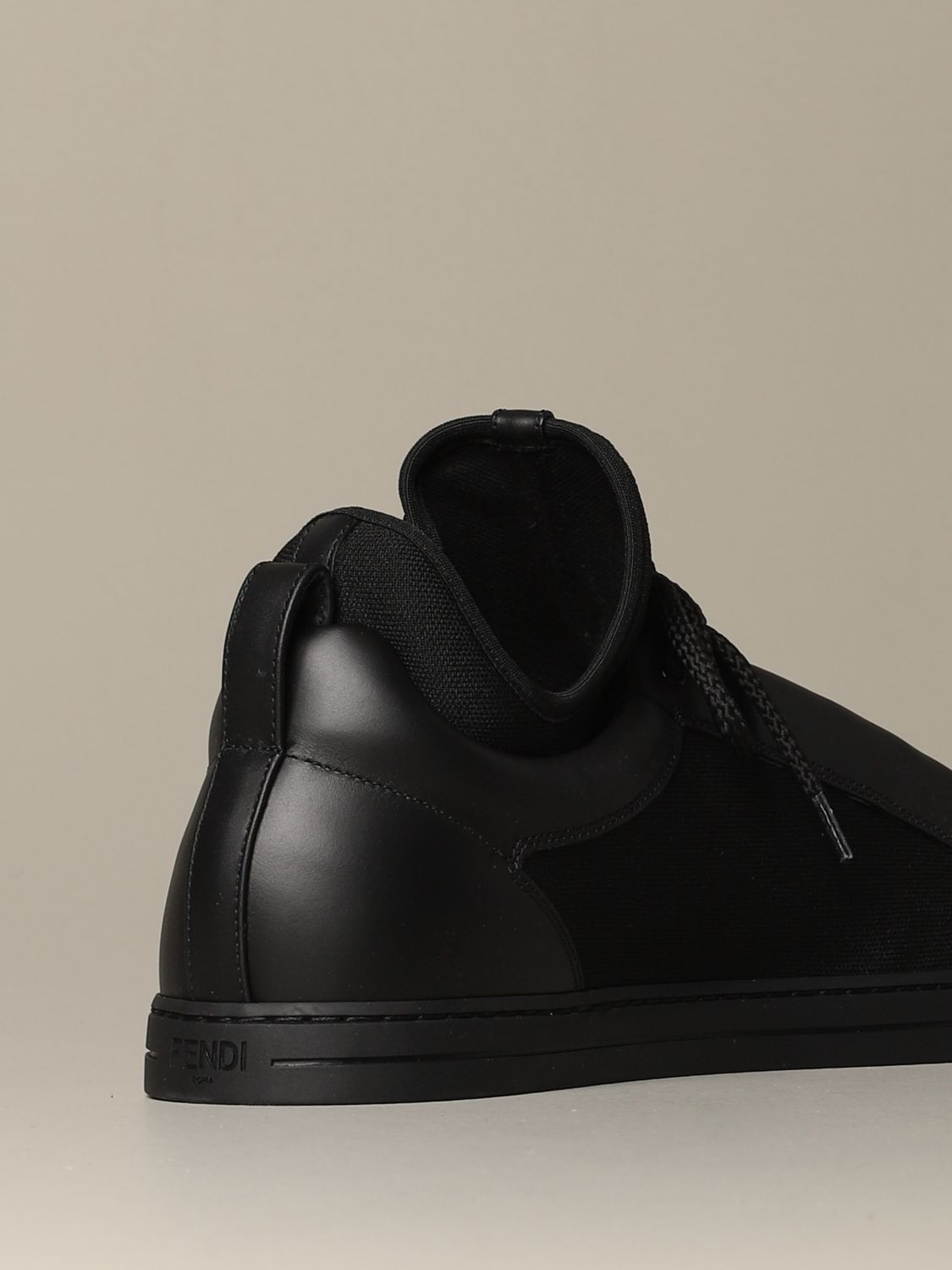 Sneakers Fendi: Fendi sneakers in leather and fabric with Bag Bugs eyes black 3
