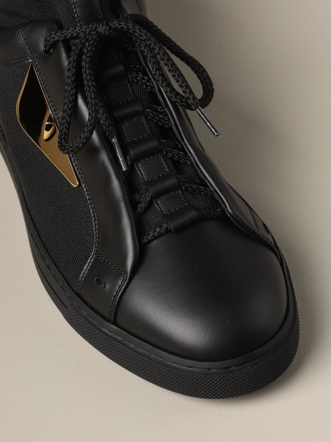 Sneakers Fendi: Fendi sneakers in leather and fabric with Bag Bugs eyes black 4