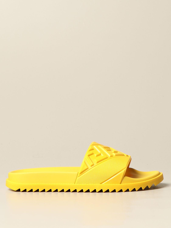 Sandalias Fendi: Zapatos hombre Fendi amarillo 1