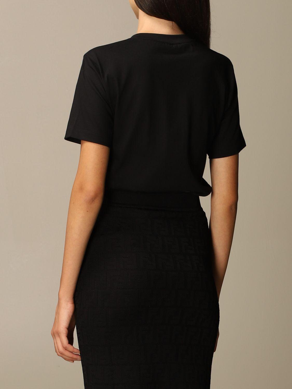 T-Shirt Fendi: Fendi cotton T-shirt with FFendi logo black 3