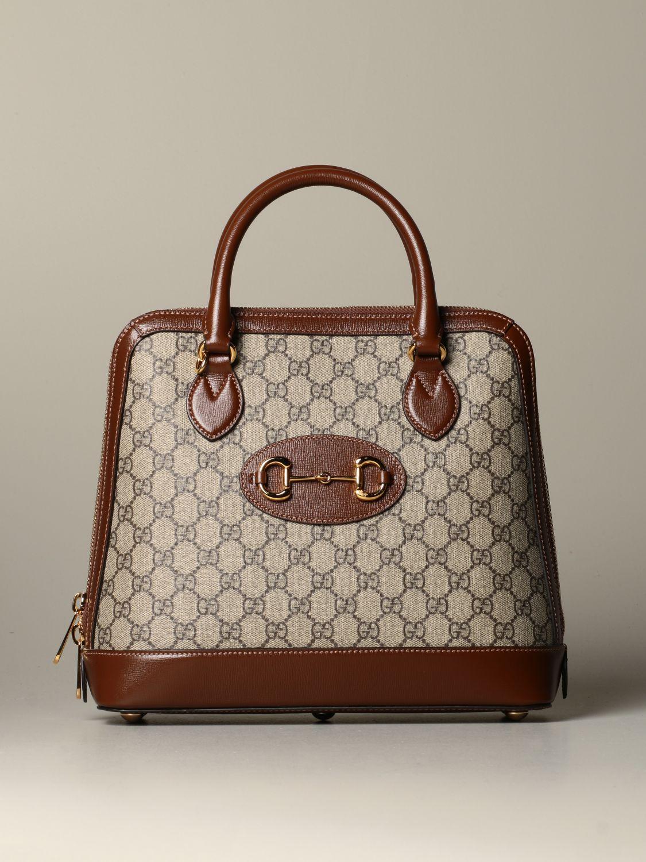 Sac porté main Gucci: Sac Horsebit 1955 Gucci GG Supreme marron 1
