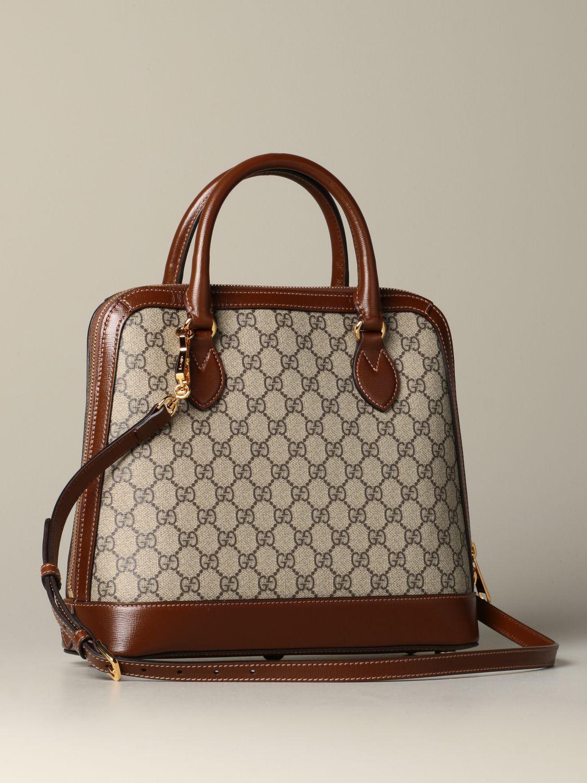 Sac porté main Gucci: Sac Horsebit 1955 Gucci GG Supreme marron 2