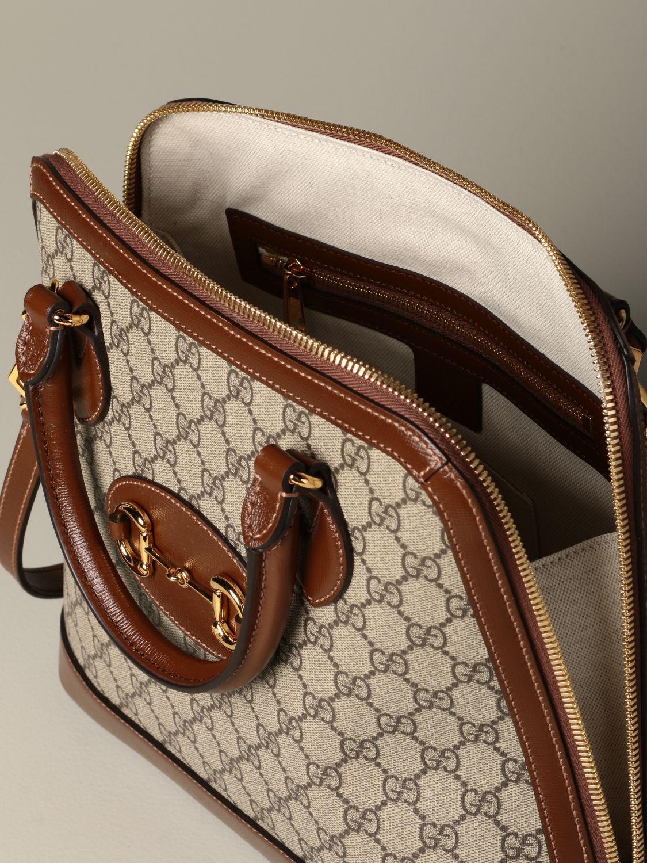 Sac porté main Gucci: Sac Horsebit 1955 Gucci GG Supreme marron 4