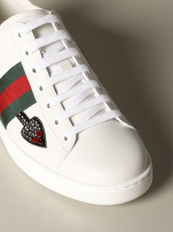 Sneakers Gucci: Sneakers Ace Gucci in pelle con patch freccia bianco 3