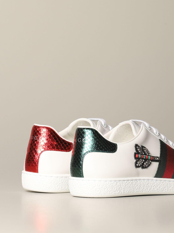 Sneakers Gucci: Sneakers Ace Gucci in pelle con patch freccia bianco 4
