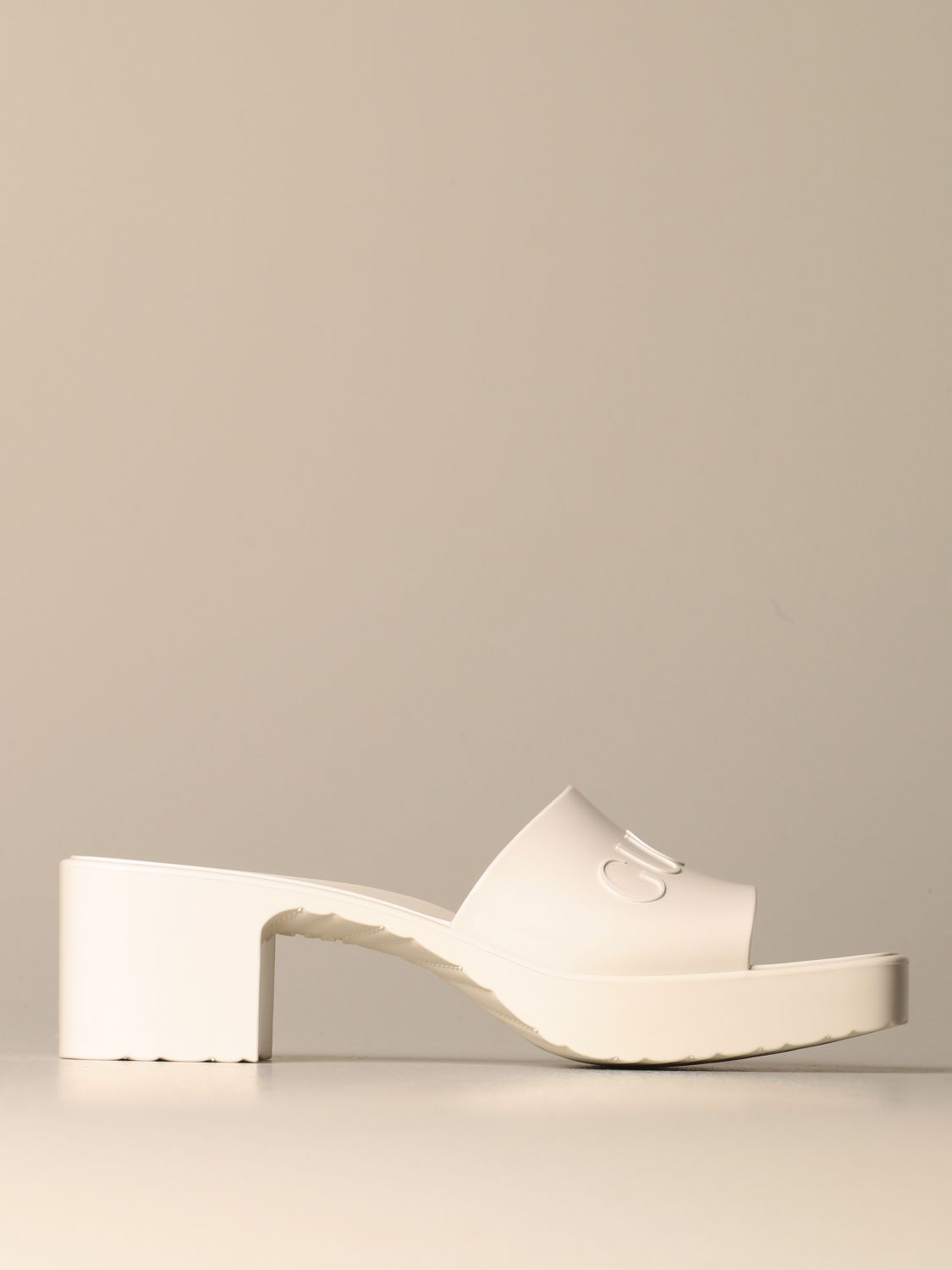 Heeled sandals Gucci: Shoes women Gucci white 1