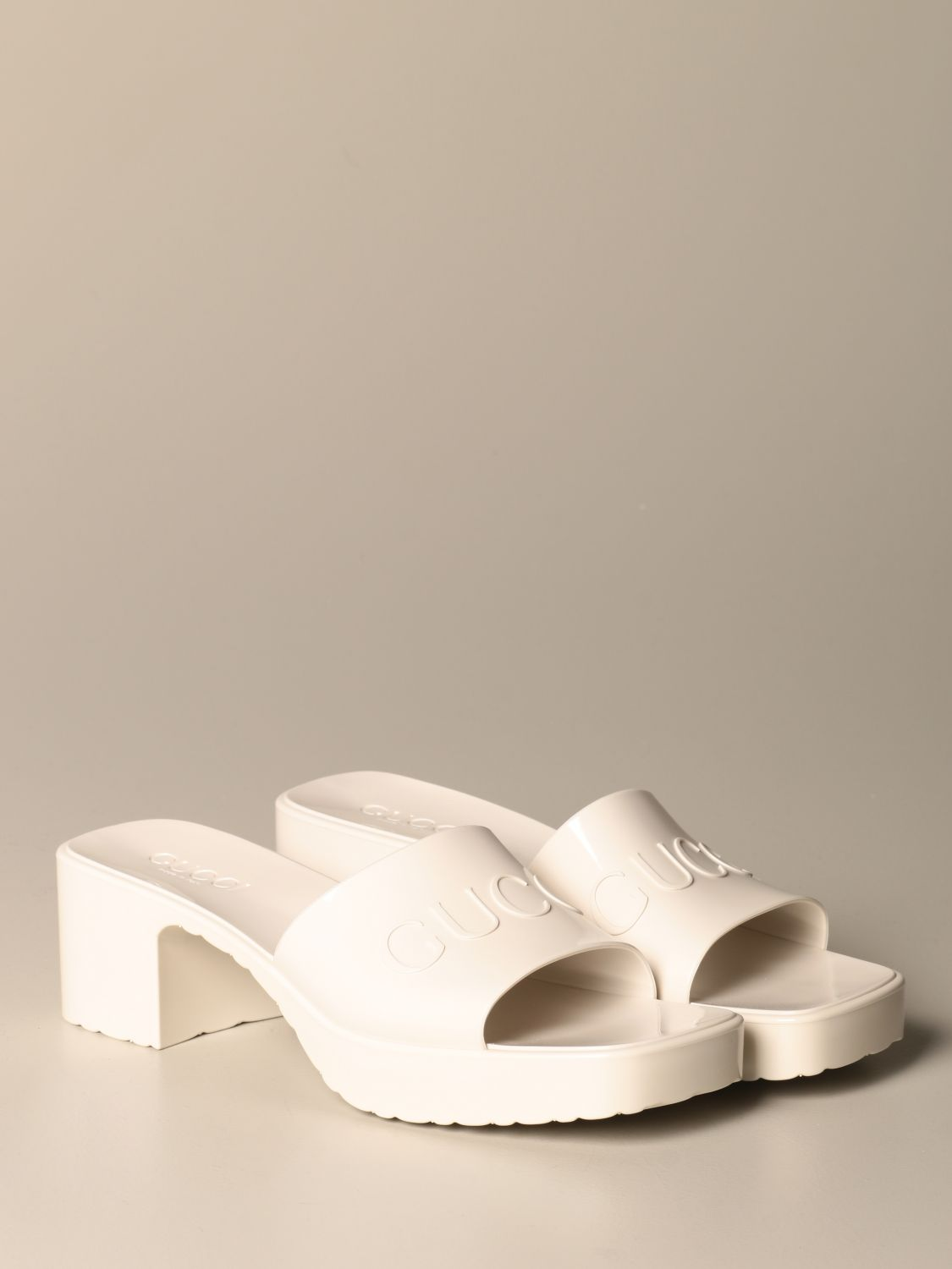 Heeled sandals Gucci: Shoes women Gucci white 2