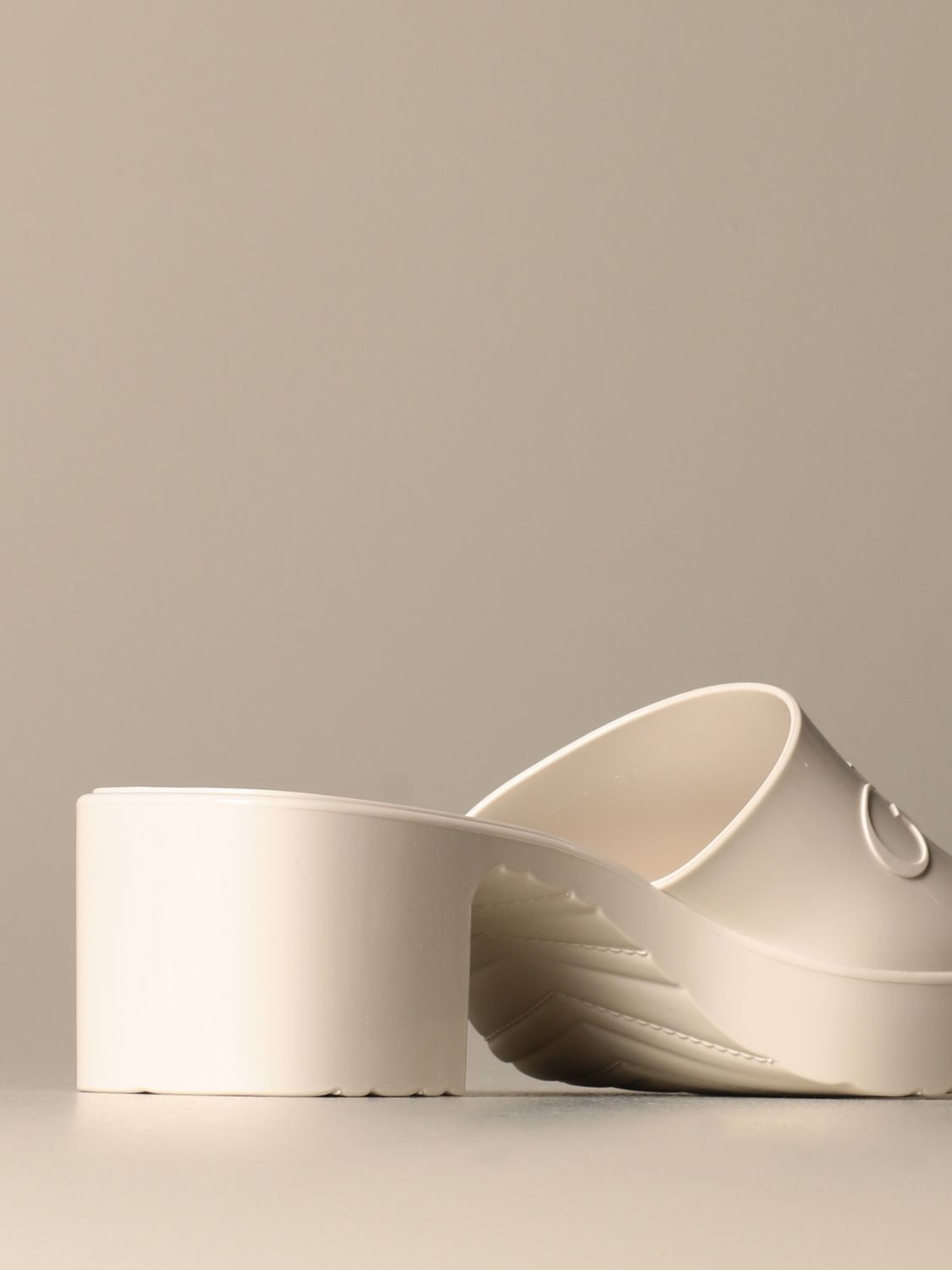 Heeled sandals Gucci: Shoes women Gucci white 3