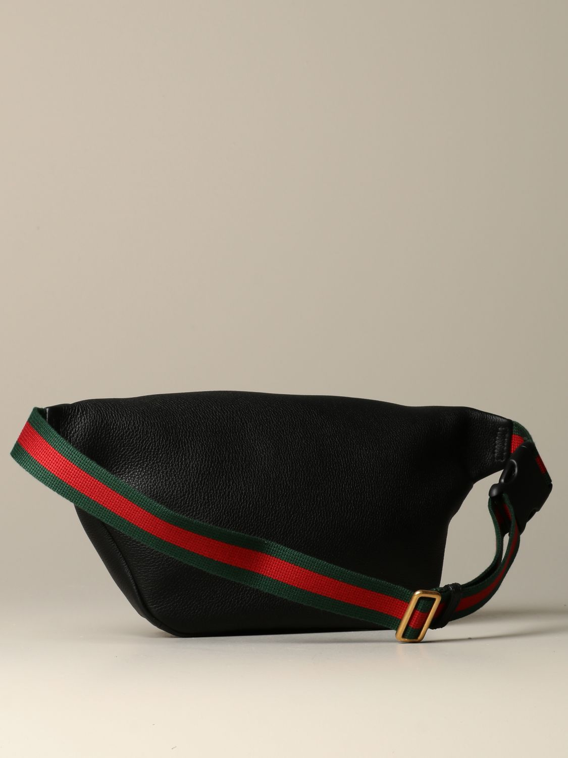 Belt bag Gucci: Gucci Print pouch in textured leather black 2