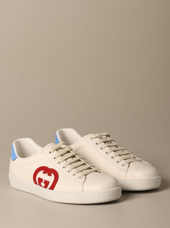 Trainers Gucci: Shoes men Gucci white 2