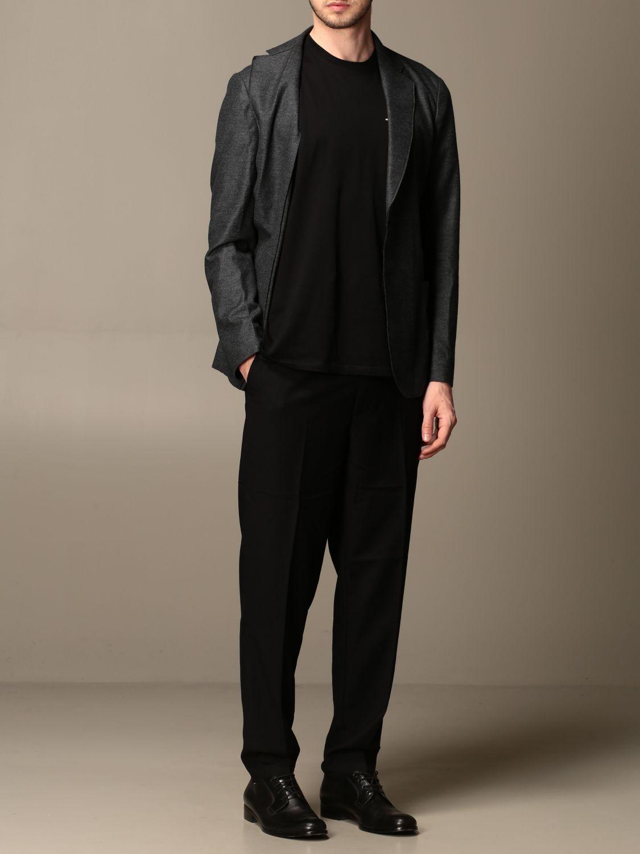 Blazer Giorgio Armani: Giacca Giorgio Armani in jersey di lana antracite 2