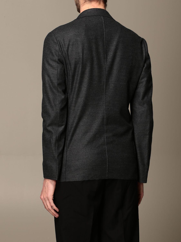 Blazer Giorgio Armani: Giacca Giorgio Armani in jersey di lana antracite 3