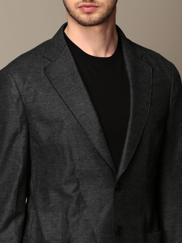 Blazer Giorgio Armani: Giacca Giorgio Armani in jersey di lana antracite 5