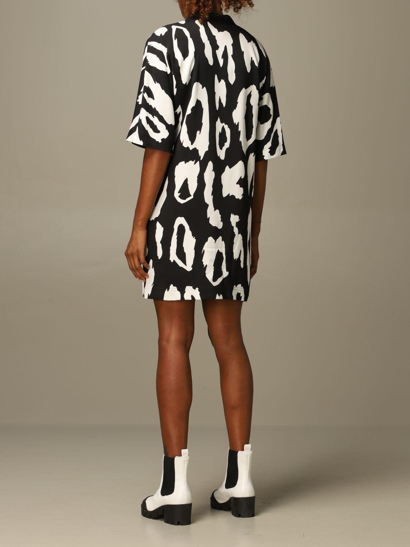 Dress Just Cavalli: Just Cavalli v-shaped dress with animal print black 2
