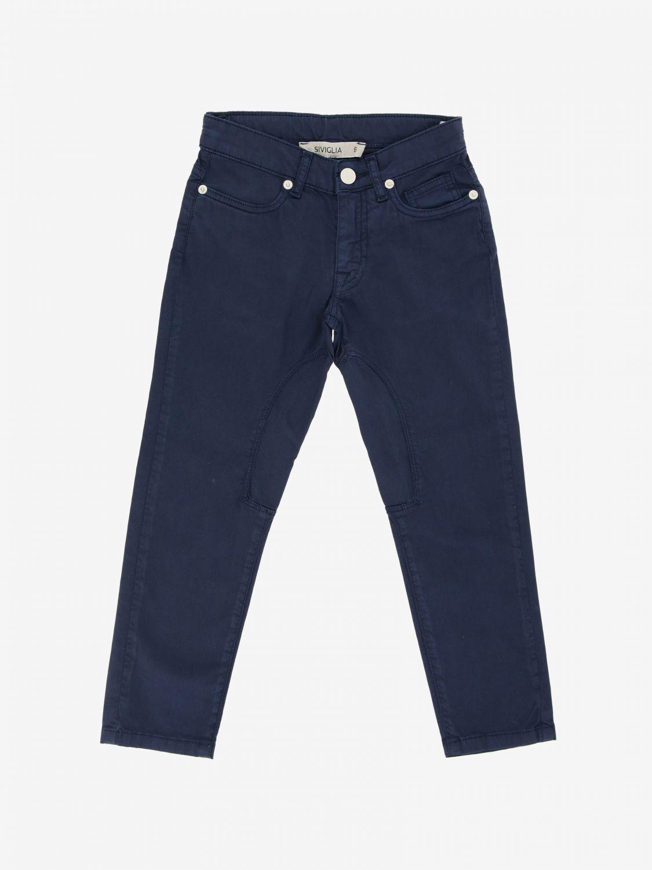 Siviglia trousers in poplin navy 1