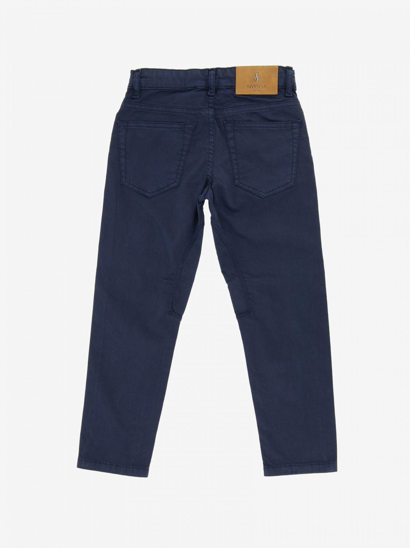 Siviglia trousers in poplin navy 2