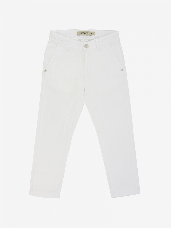 Trousers kids Siviglia white 1