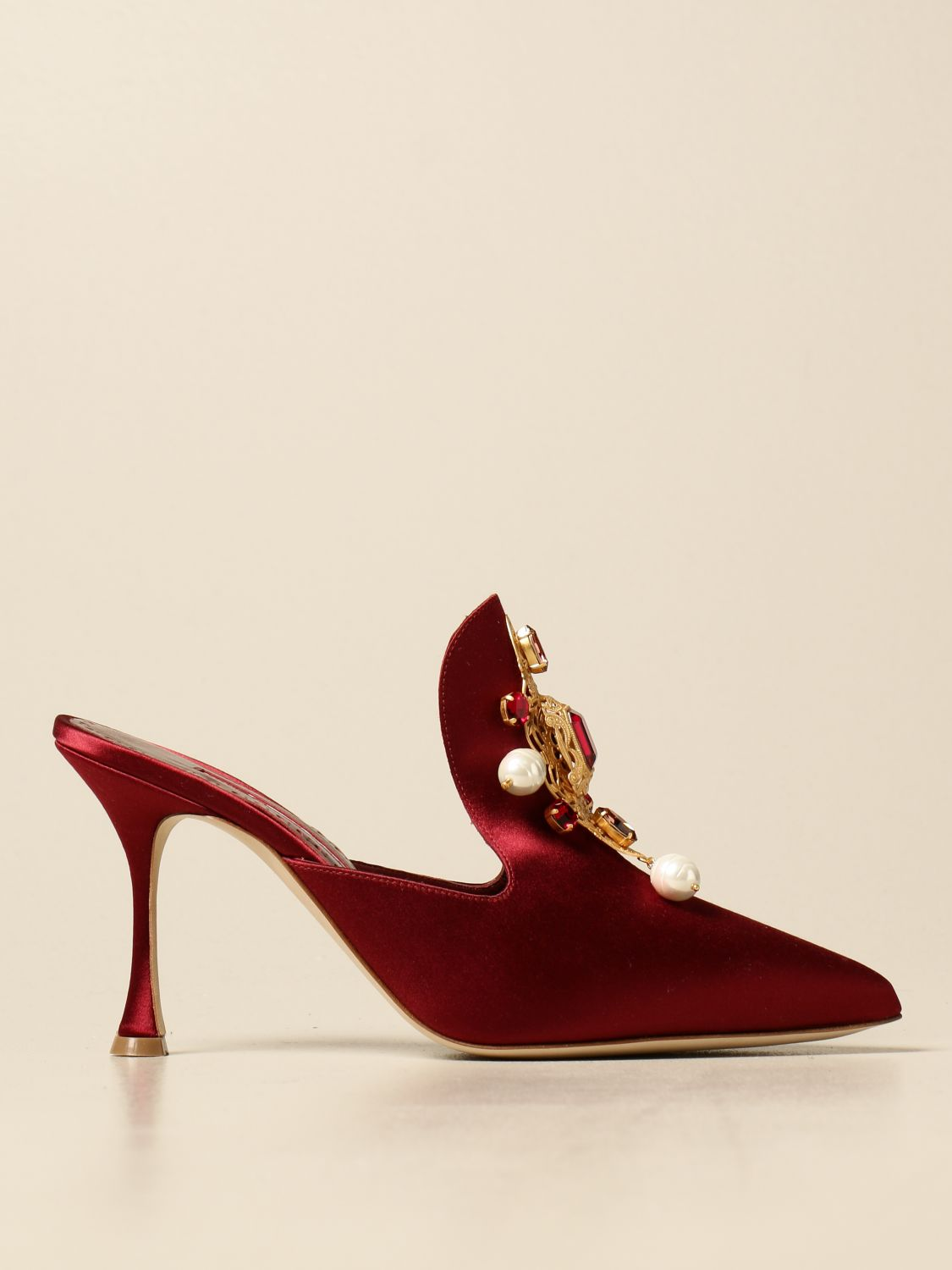 High heel shoes Manolo Blahnik: Shoes women Manolo Blahnik burgundy 1